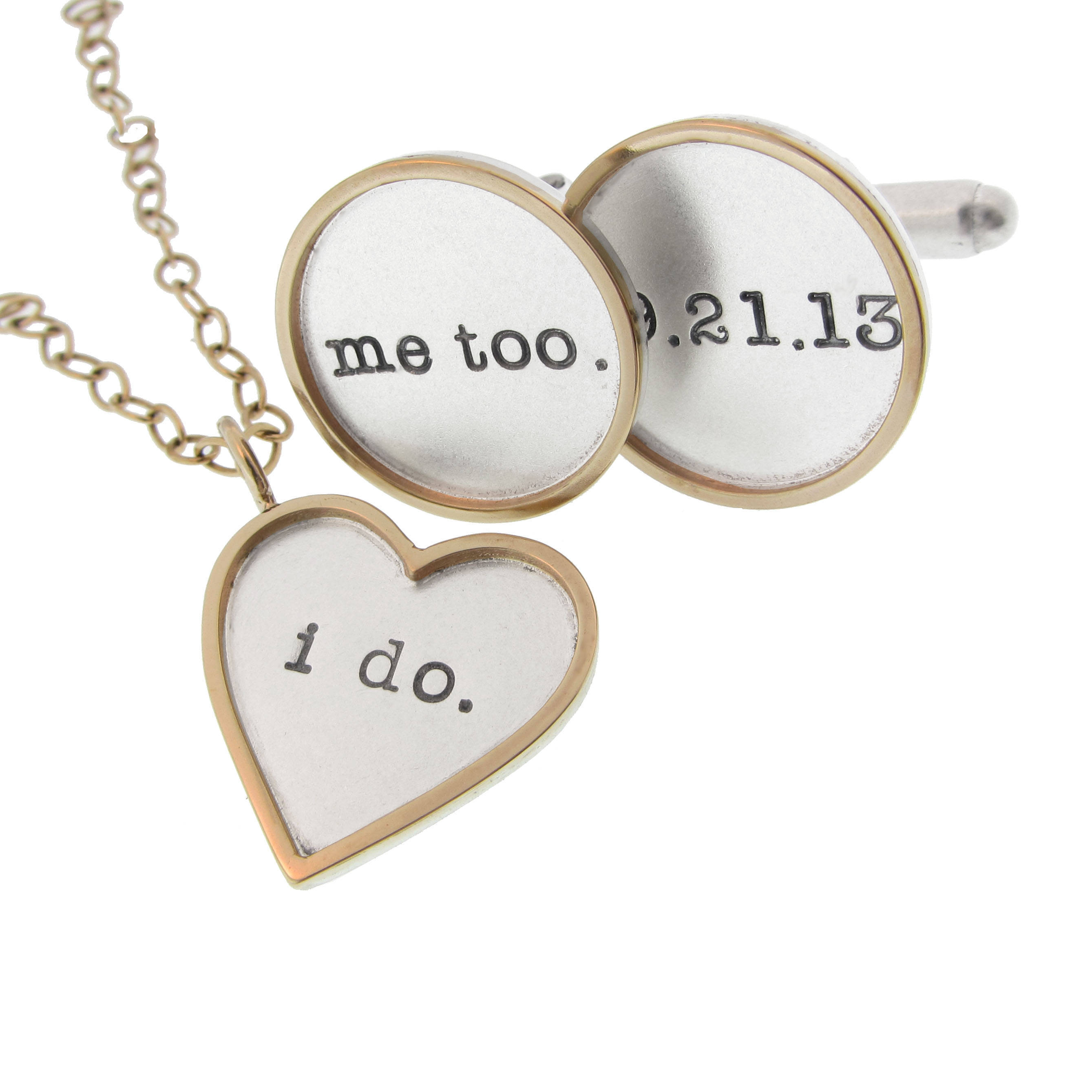 I Do Me Too Cufflink and Necklace Set
