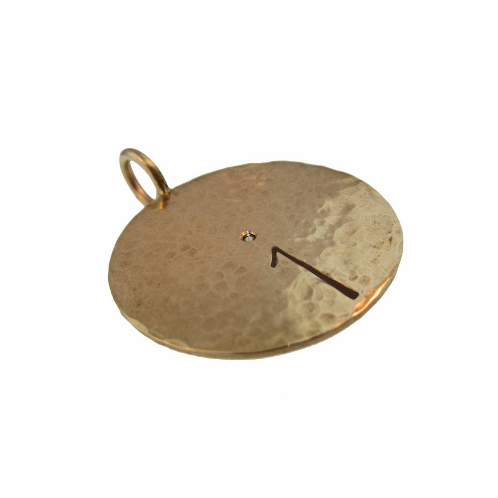 Bull's Eye Gold Pendant