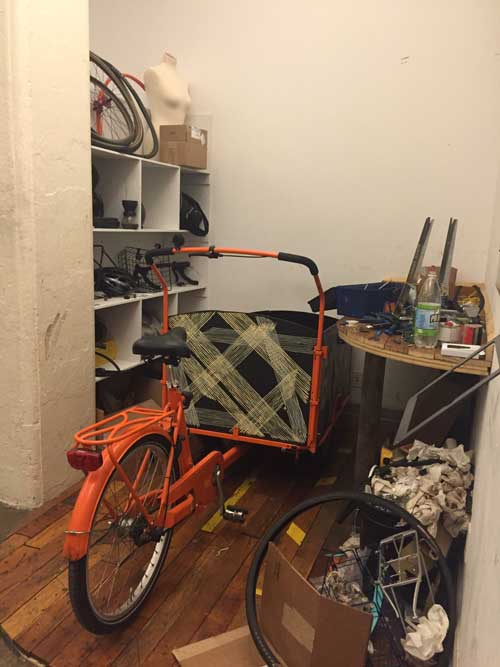 Etsy cargo bike to haul compost.