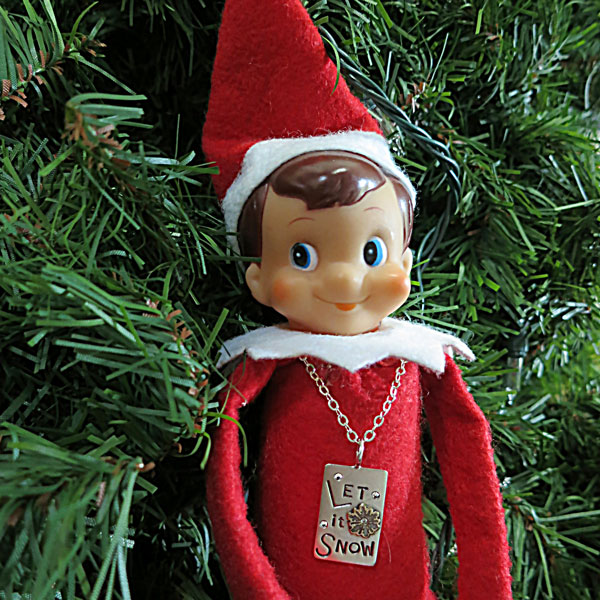 Willy The Elf with his Let It Snow Charm.